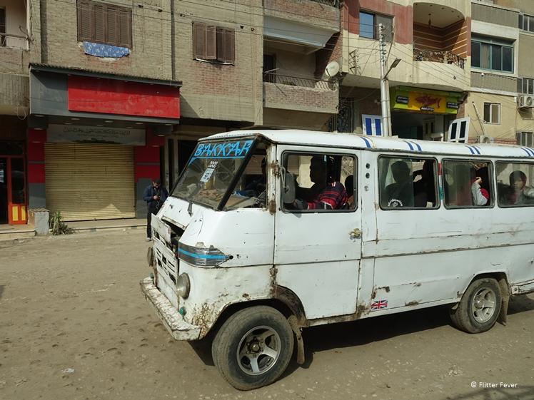 Ons groepsbusje in Egypte... grapje