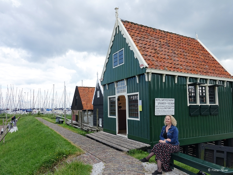 Old little shop at the Companiehaven port of Enkhuizen