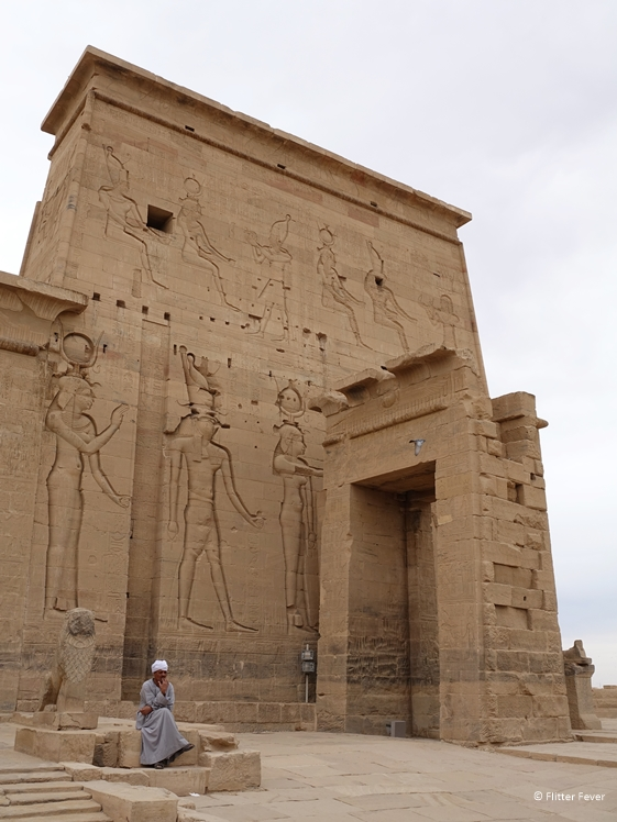 Philae Temples with man in front