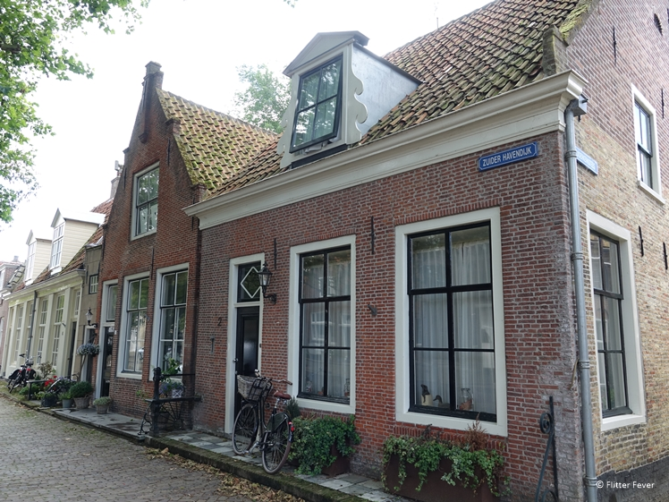 Pretty monumental houses at the Zuider Havendijk Enkhuizen
