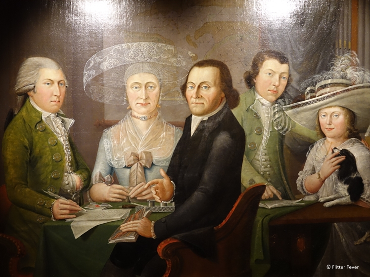 Wealthy family on a painting in the Zuiderzeemuseum
