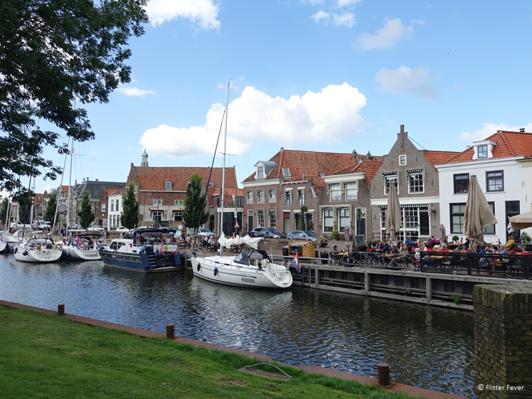 Terraces at the Old Harbor in Enkhuizen