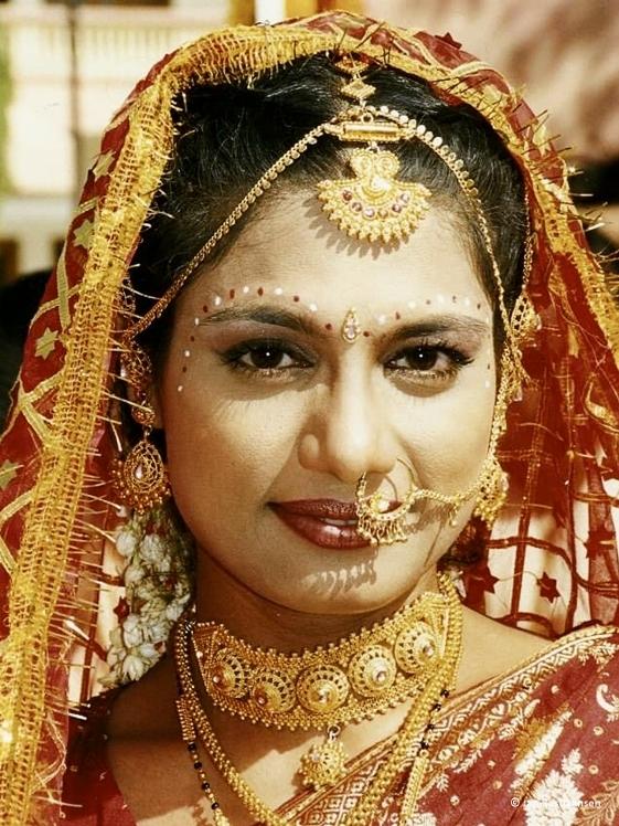 Vrouw in India door Jan Bastiaansen