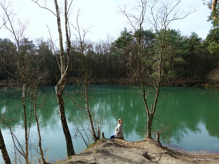 The Blue Lake looks more green than blue Drenthe