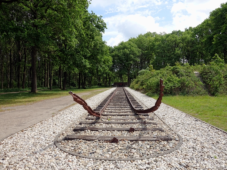 Camp Westerbork rail track Central Drenthe