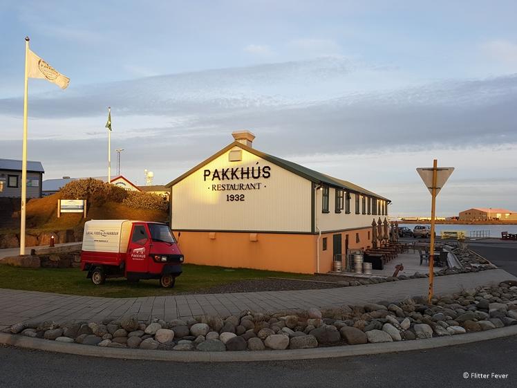 Pakhuss restaurant Hofn Ijsland