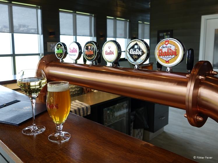 Wijn en bier bij Restaurant Beer Spa in IJsland