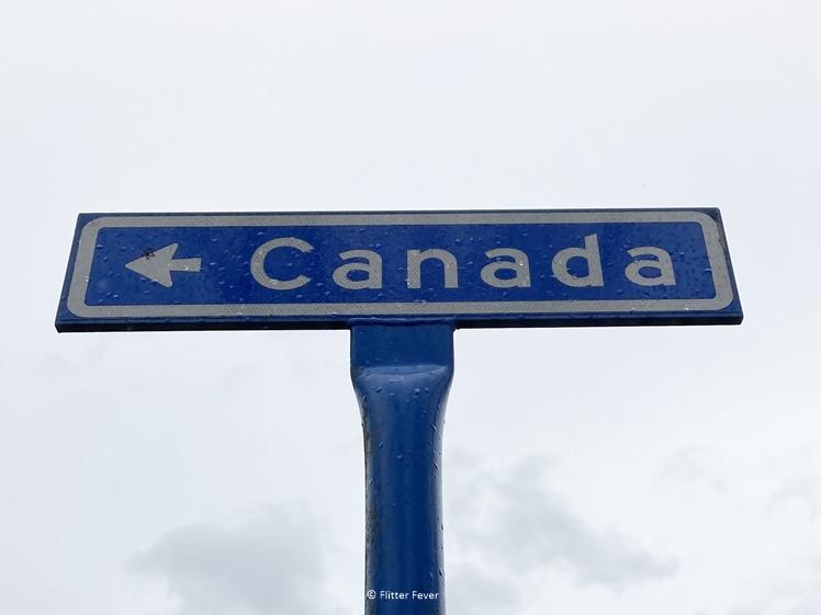 Canada straatnaambordje Zuidoost Friesland