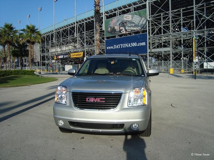 With our GMC Yukon at Daytona International Speedway