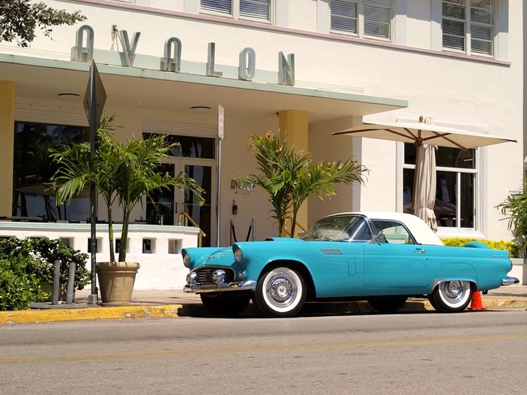 Old timer car at Avalon Miami South Beach