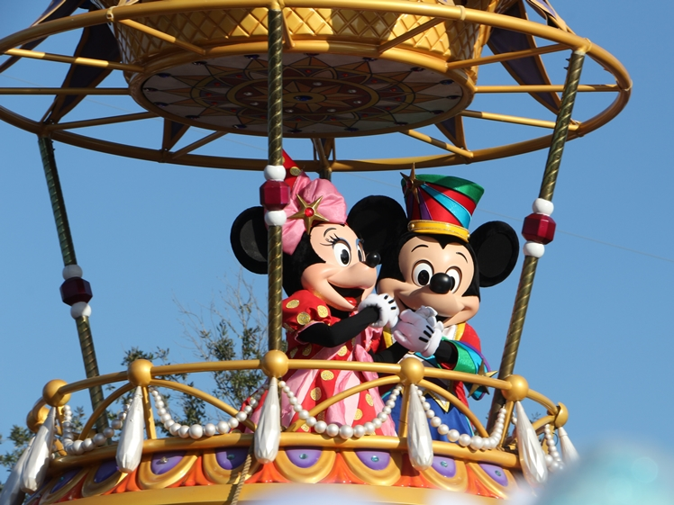 Mickey and Minnie Mouse in Disney Orlando Florida