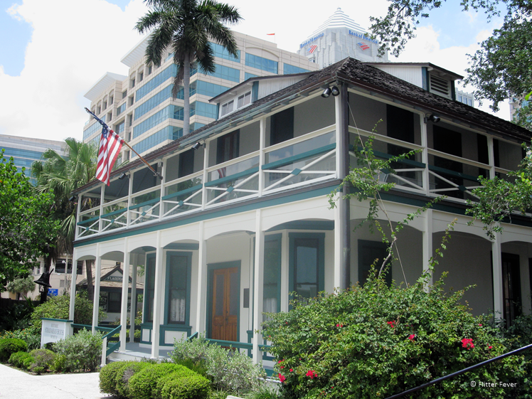 Old and new buildings in Ft. Lauderdale Florida round trip