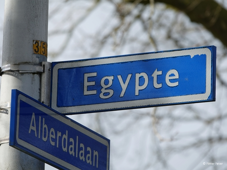 Egypte straatnaambordje in Nijeberkoop Friesland Nederland