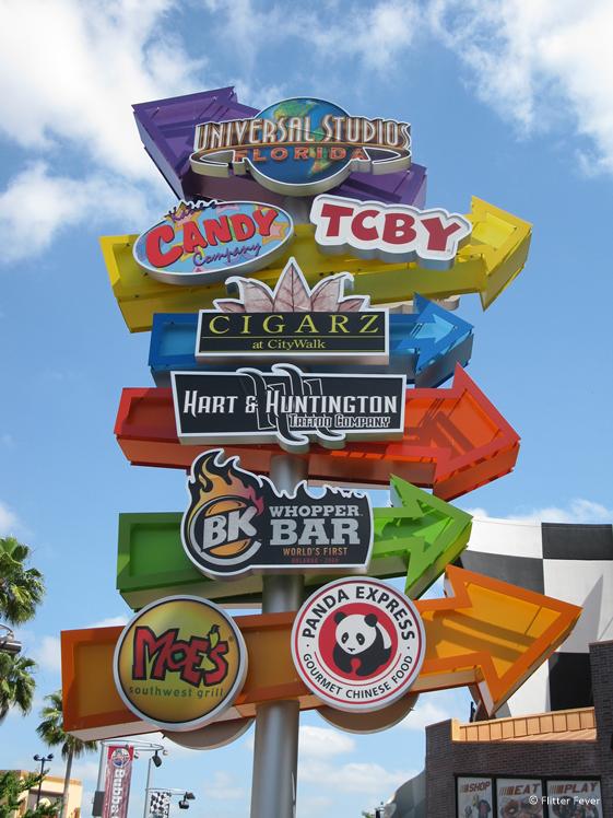 Universal Studios Florida signs