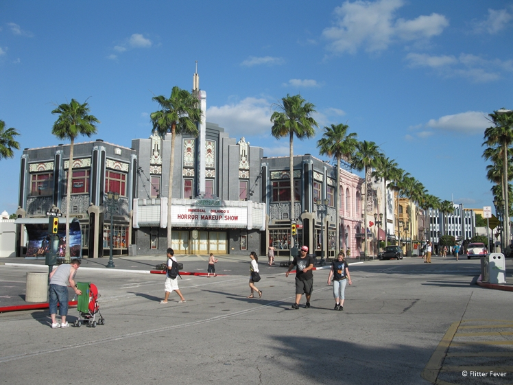 Universal Studios on a weekday in May