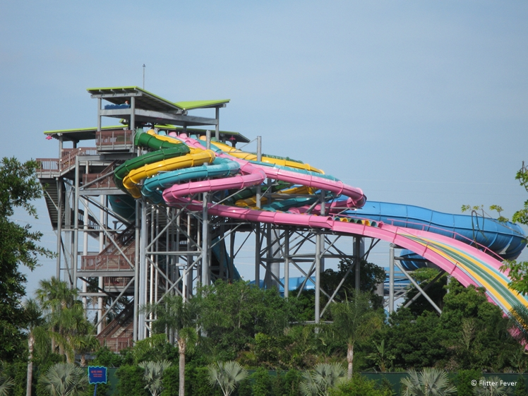 Lots of slides in Aquatica Orlando