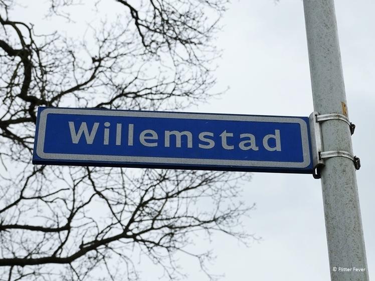 Willemstad in Friesland Nederland straatnaambordje