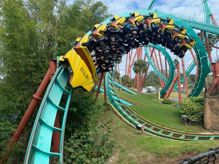 Bush Gardens Florida amusement park round trip
