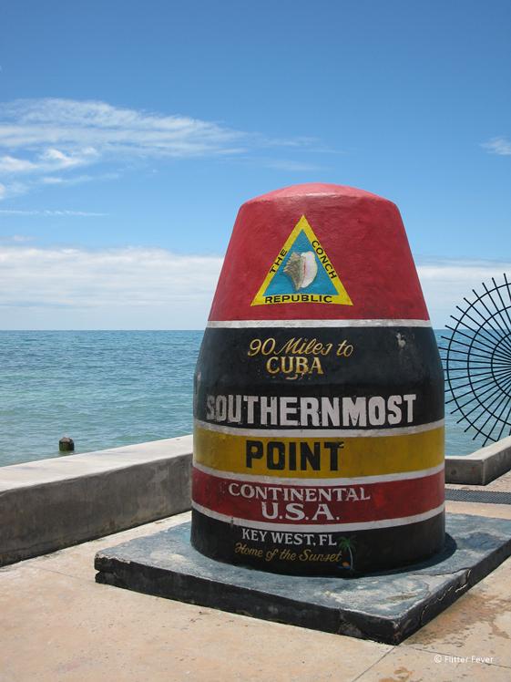 Meest zuidelijke puntje van de VS in Key West Florida