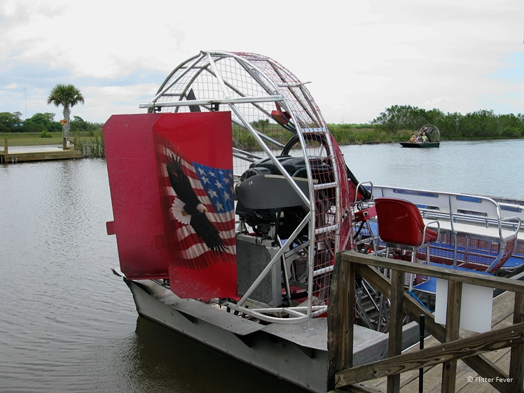 Our airboat in the Everglades Florida round trip