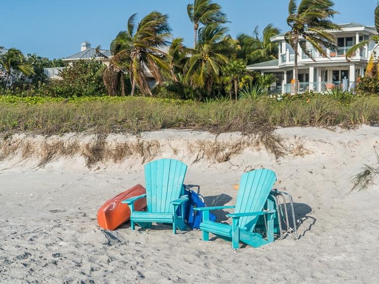On the beach of Captiva Island Florida
