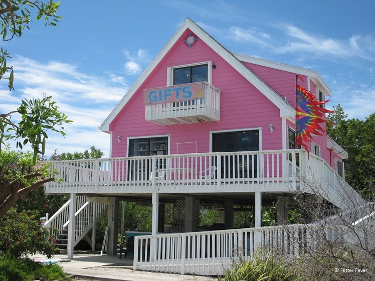 Pink souvenir shop in the Keys, Florida