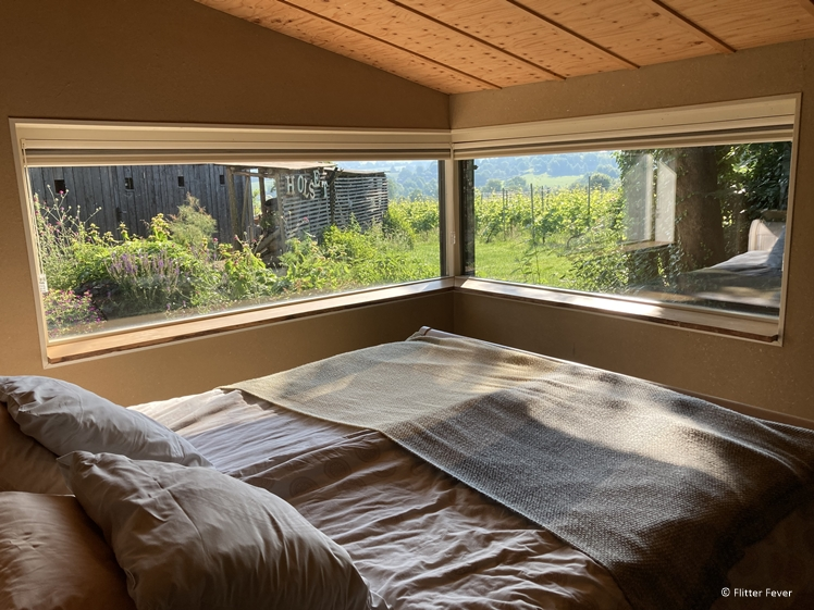 Domein Holset Leemschuur logeren met uitzicht op de wijngaard