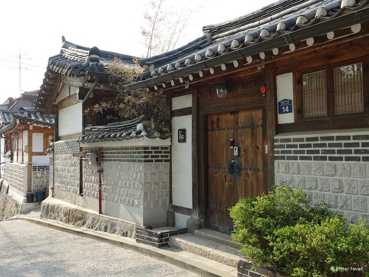 Traditionele huizen in Bukchon Hanok Village Seoul