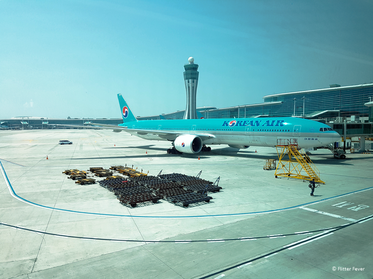 Vliegtuig van Korean Air op Incheon Airport