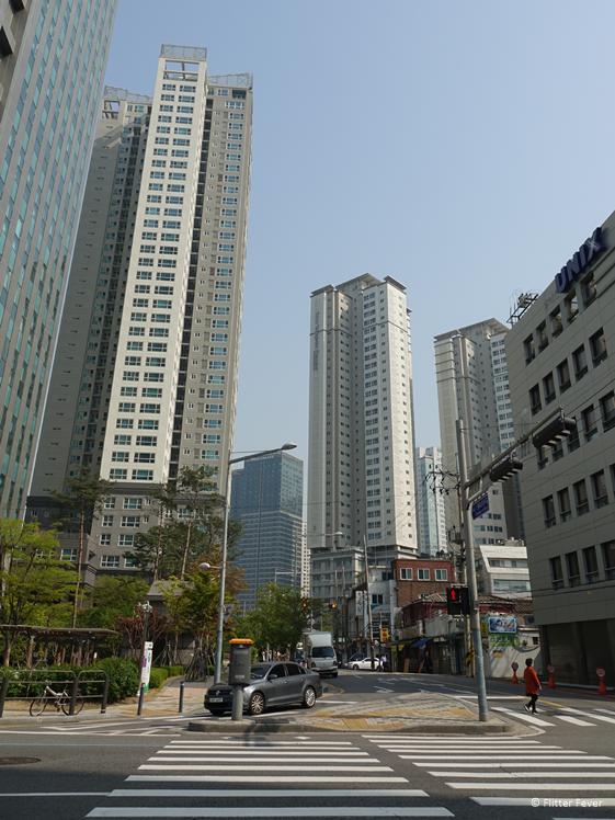 Wolkenkrabbers in Seoul centrum